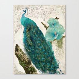Les Paons Canvas Print