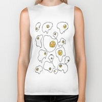 egg Biker Tanks featuring Egg  by Kimberly Bones
