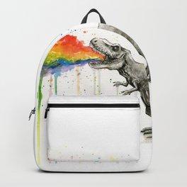 T-Rex Rainbow Puke Backpack