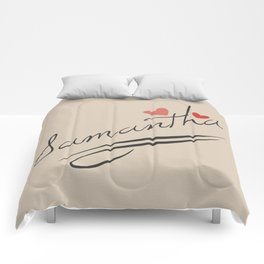 Custom Name Typography Print Comforters