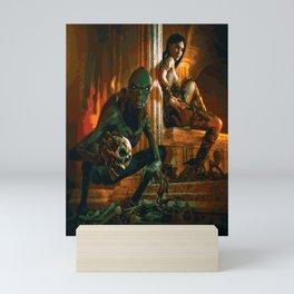 A Demon and His Succubus Mini Art Print