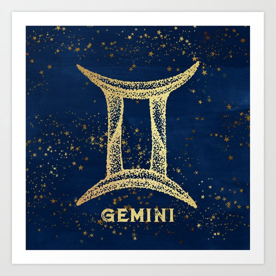 Gemini Zodiac Sign Art Print