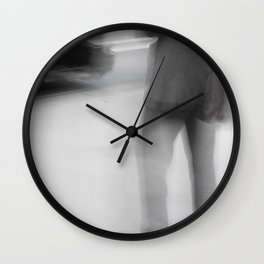 Catching The Bus Wall Clock
