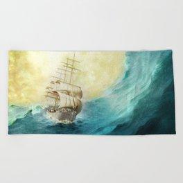 Through Stormy Waters Beach Towel