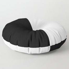 Abstract Black and White Vertical Color Block Floor Pillow