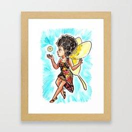Natural Hair Fairy Framed Art Print