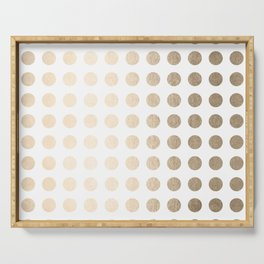 Simply Polka Dots in White Gold Sands Serving Tray