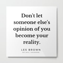 37  |  Les Brown  Quotes | 190824 Metal Print