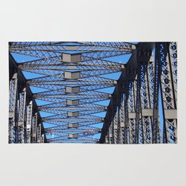 Steel Work Sydney Harbour Bridge Rug