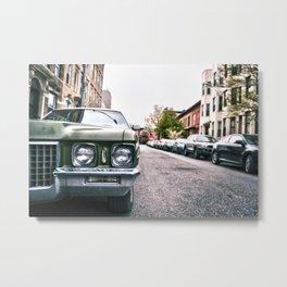 New York City Vintage Cadillac de Ville Metal Print
