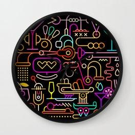 Cocktail Mixing Wall Clock