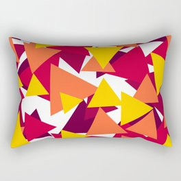 Bright & Warm Triangles Rectangular Pillow