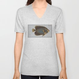 Vintage Illustration of an Angel Fish (1785) Unisex V-Neck
