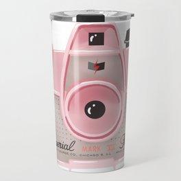 Vintage Camera - Pink Travel Mug