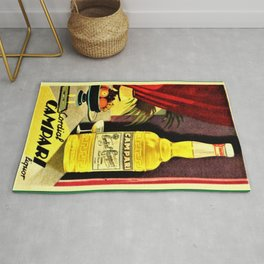 Super rare 1930 Cordial Campari Advertisement Rug