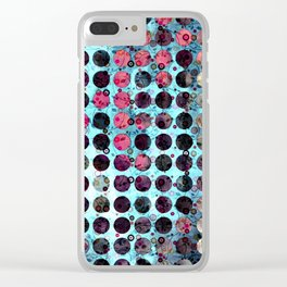 MELANGE OF BLUE and ROSE Clear iPhone Case