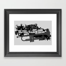 Trumpet and styles Framed Art Print