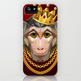 The King of Monkeys iPhone Case