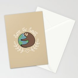 Save The Earth Sloth Stationery Cards