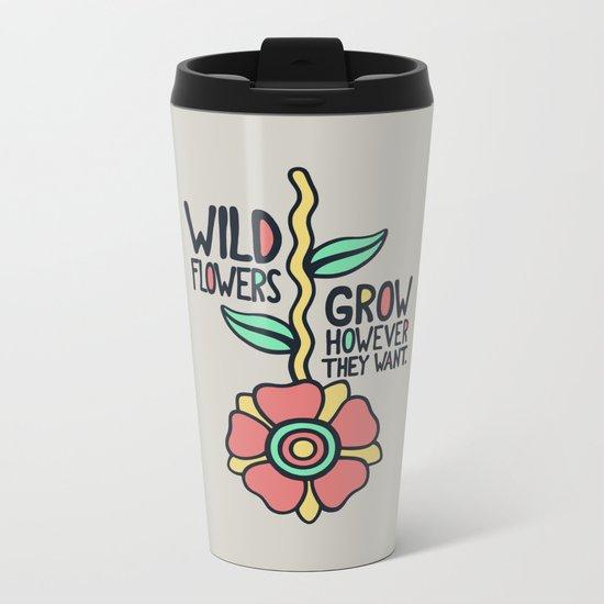 W/LDFLOWER Metal Travel Mug