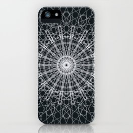 Black and White Mandala iPhone Case