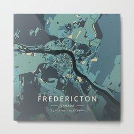 Fredericton, Canada - Cream Blue Metal Print