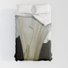 Moon Flower by kathy Morton Stanion Comforters