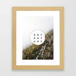 Adventure - Wanderlust Framed Art Print