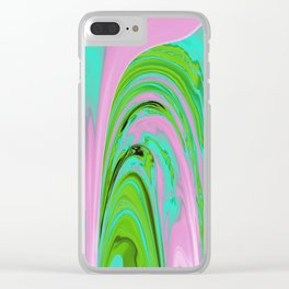 The Flaring Falls of Strine Canyons (Jungle Variant) Clear iPhone Case