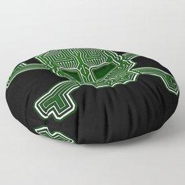 Hacker Skull Crossbones (isolated version) Floor Pillow