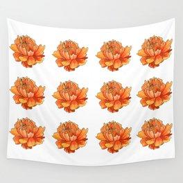 Siberian flower pattern Wall Tapestry