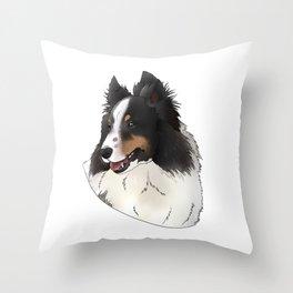 Sheltie smooth Throw Pillow