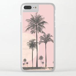 Tropical Sunset In Peach Coral Pastel Colors Clear iPhone Case