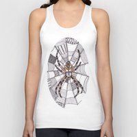 spider Tank Tops featuring Spider by Laura Maxwell