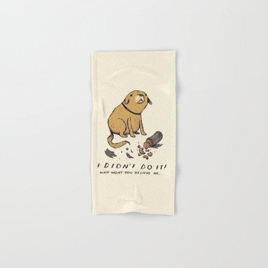 guilty dog Hand & Bath Towel