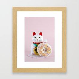 Maneki Donut Framed Art Print