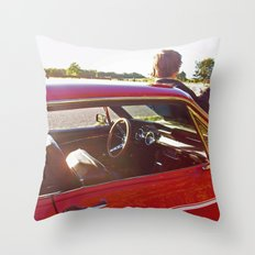 Country Mustang Throw Pillow