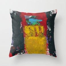 Baron Modern Art Black Throw Pillow