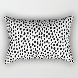 Dalmatian Spots (black/white) Rectangular Pillow