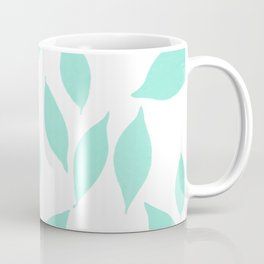 Autumn Leaves Pattern #2 #Mint #foliage #decor #art #society6 Coffee Mug