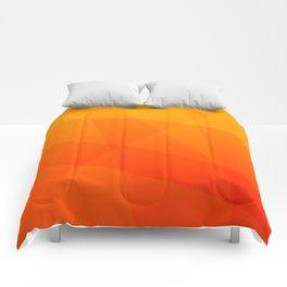 Orange Sunset Comforters