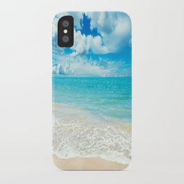 Beach - Ocean - Clouds - Water - Waves iPhone Case