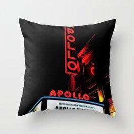 Harlem's Apollo Theater Portrait Painting Throw Pillow