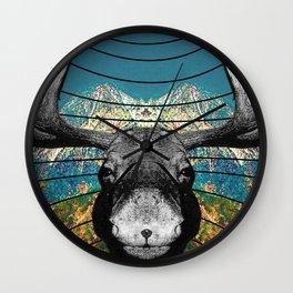 Alces alces Wall Clock