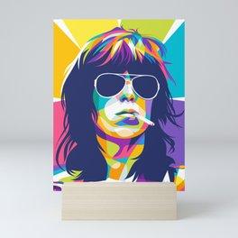 Keith Richard Rollingstone Pop Art Mini Art Print