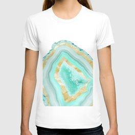 Agate Gold Foil Glam #2 #gem #decor #art #society6 T-shirt