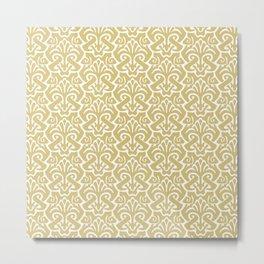 Art Nouveau Pattern Gold Metal Print