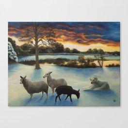 Flock in Winter Canvas Print