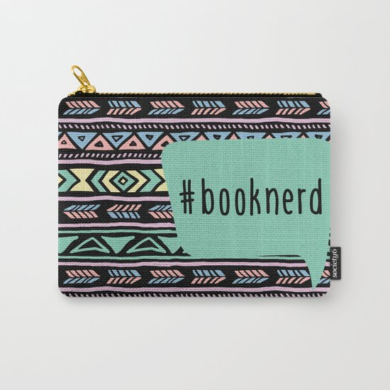 Book Nerd Tribal Print Carry-All Pouch