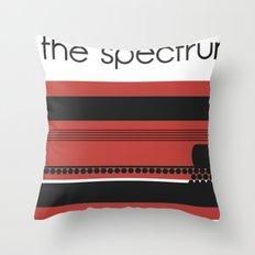 raving through the spectrum of melody Throw Pillow